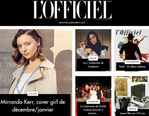 16 Le Magazine L Officiel de la Mode